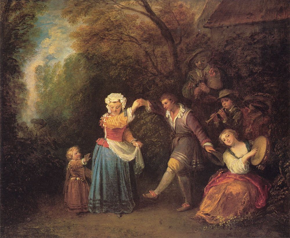 La Danse Champetre | Jean Antoine Watteau | Oil Painting