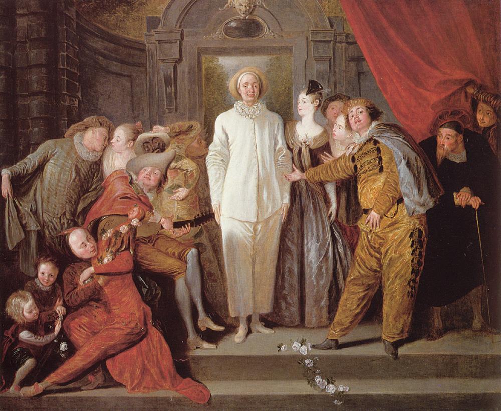 Les Comediens italiens | Jean Antoine Watteau | Oil Painting