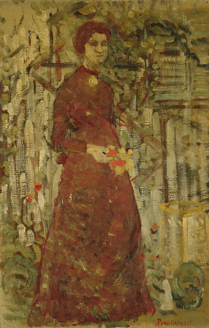 Annie Sargent Jewett 1905 | Unknown Artist (Follower of Maurice Prendergast) | Oil Painting