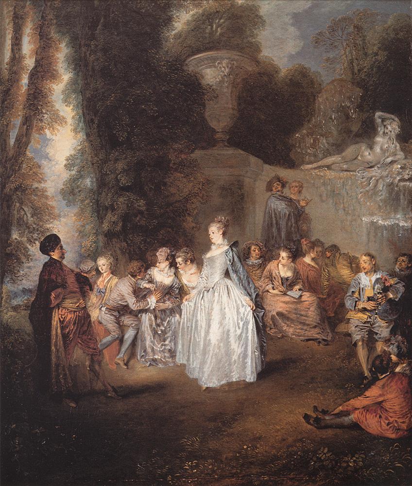 Les Fetes venitiennes | Jean Antoine Watteau | Oil Painting