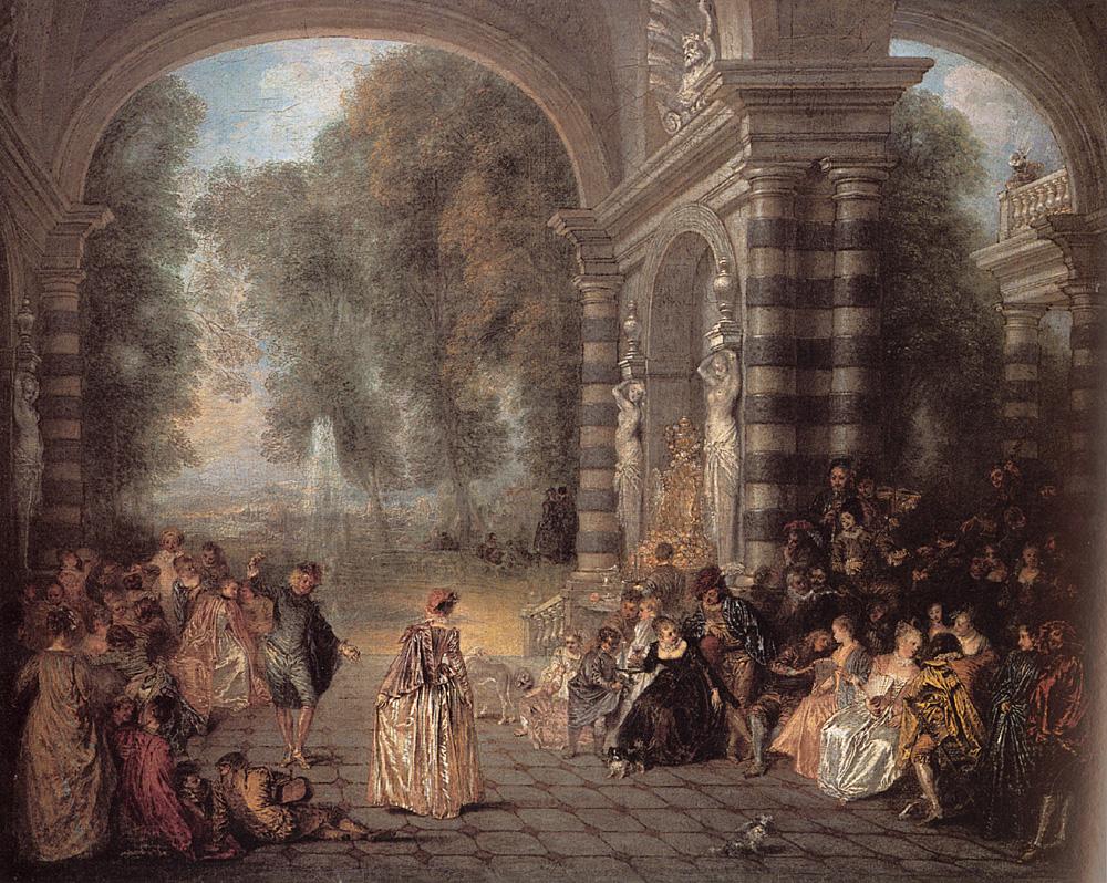 Les Plaisirs du bal | Jean Antoine Watteau | Oil Painting