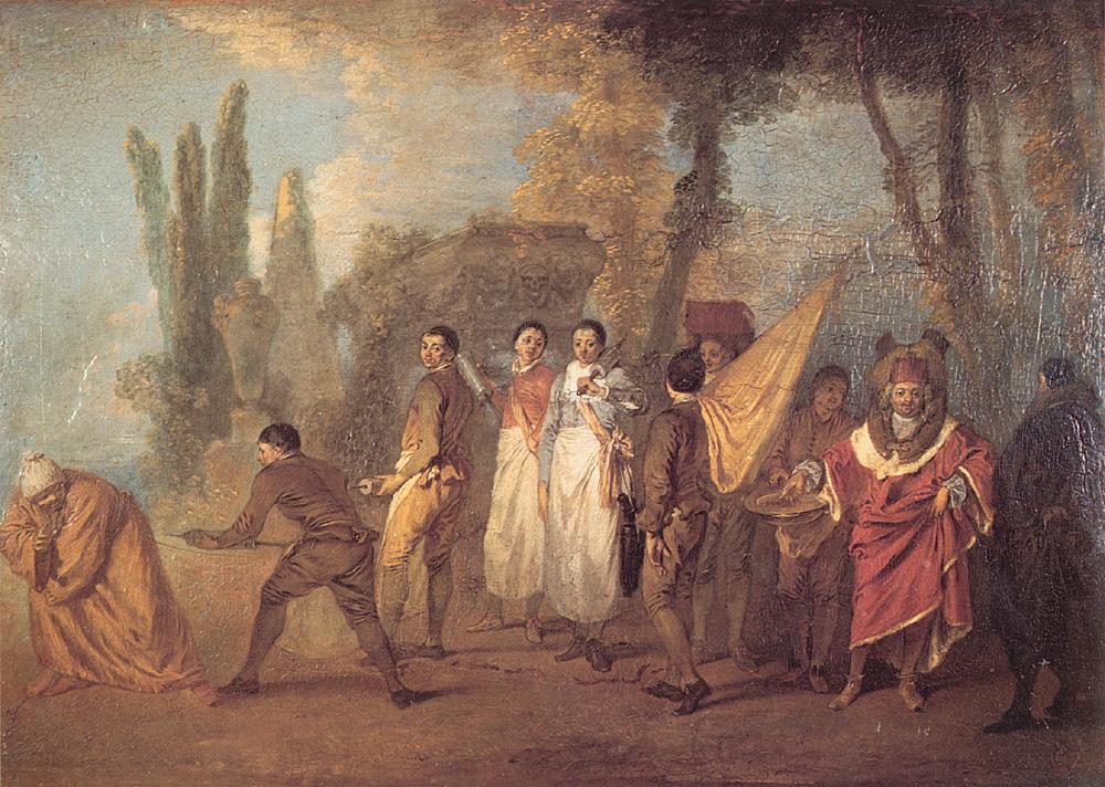 Qu-ay Je Fait Assassins Maudits | Jean Antoine Watteau | Oil Painting