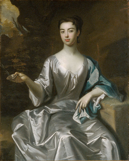 Portrait of a Woman called Maria Taylor Byrd 1700 1725 | Unknown Artist (School of Sir Godfrey Kneller) | Oil Painting