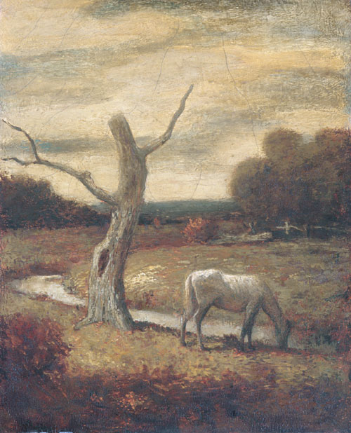 Autumn Meadows 1912 1917 | Unknown artist Formerly Albert Pinkham Ryder | Oil Painting