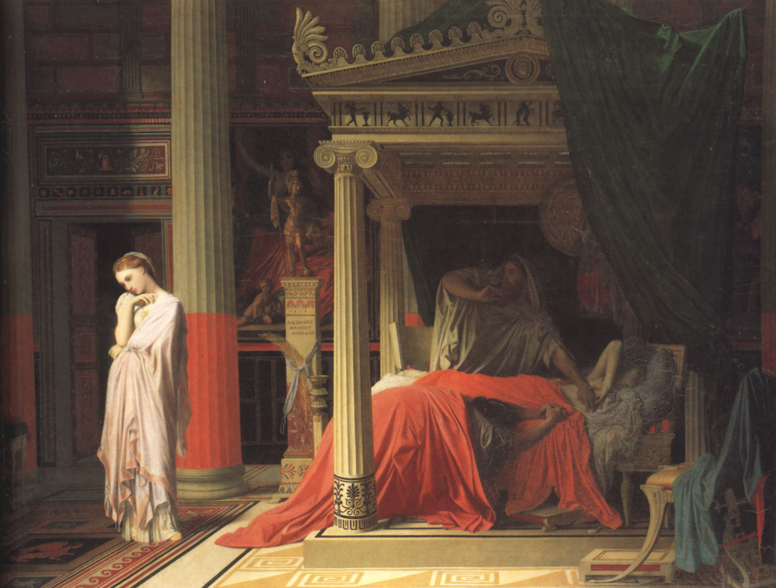 Antiochus and Stratonice | Jean Auguste Dominique Ingres | Oil Painting