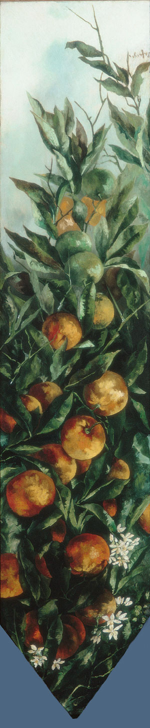 Orange Branch 1883 | Unknown artist Formerly John La Farge | Oil Painting