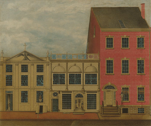 The Shop and Warehouse of Duncan Phyfe Fulton Street New York City 1816 | Unknown artist Formerly John Rubens Smith | Oil Painting