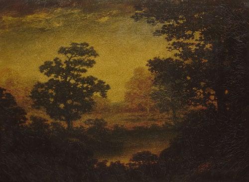 Woodland Vista 1910 | Unknown artist Formerly Ralph Albert Blakelock | Oil Painting