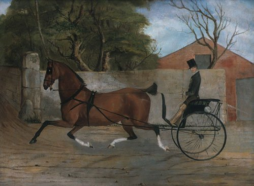 Portrait of a Gentleman in a Carriage 1850 | Unknown artist | Oil Painting