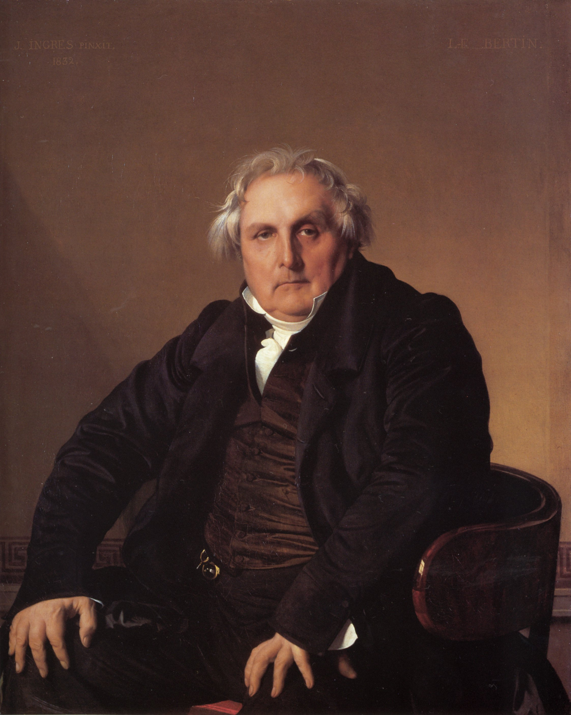 Louis Francois Bertin | Jean Auguste Dominique Ingres | Oil Painting