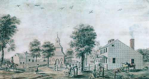 Brooklyn, Long Island (View of the Village Green) 1778