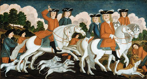 The Hunting Party New Jersey 1670 | Unknown artist | Oil Painting