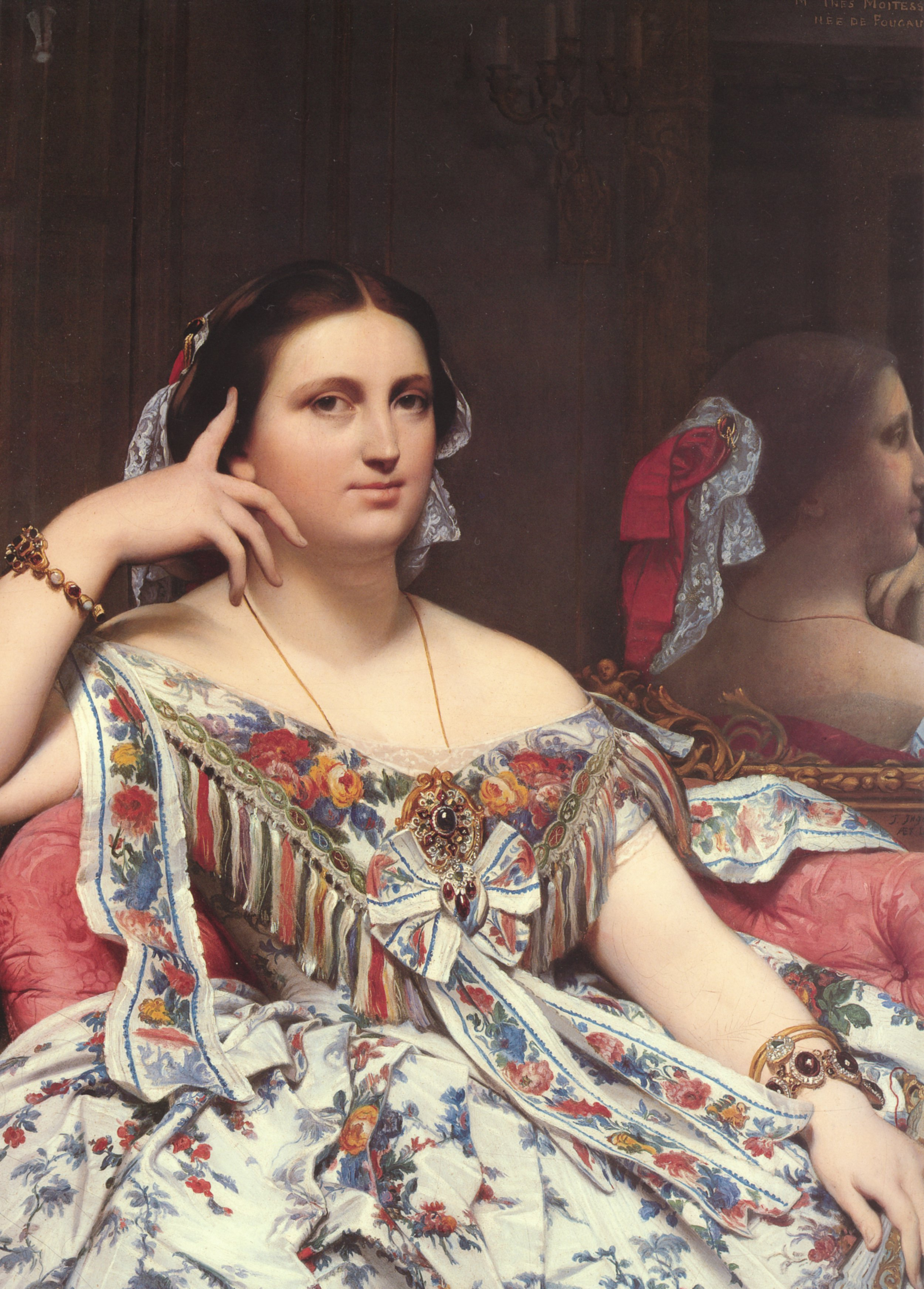 Madame Moitessier Seated detail | Jean Auguste Dominique Ingres | Oil Painting