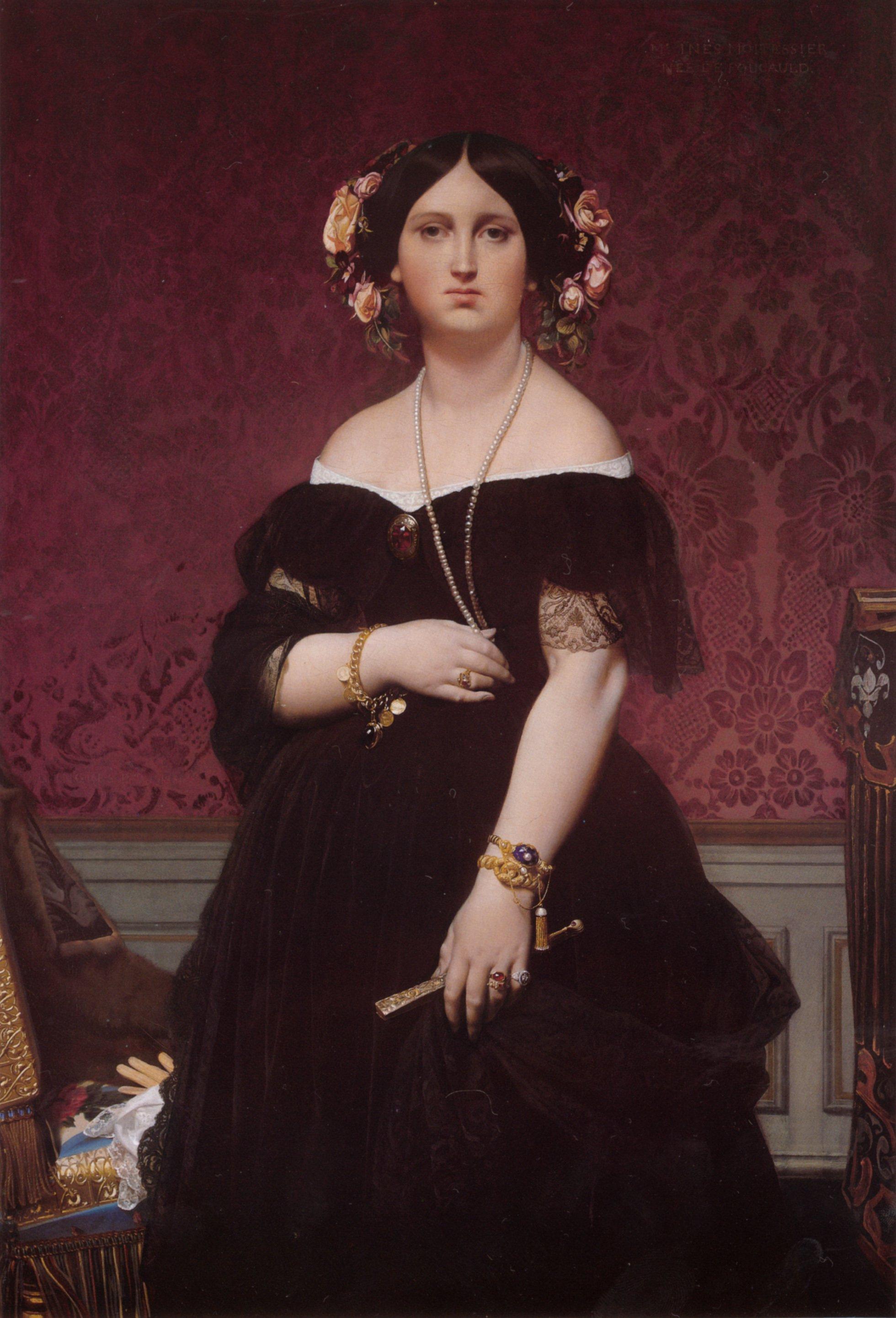 Madame Paul Sigisbert Moitessier | Jean Auguste Dominique Ingres | Oil Painting