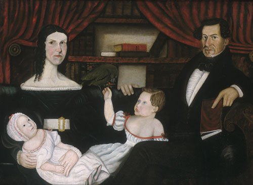 Family Group with a Parrot 1838 | W. H. Browne | Oil Painting