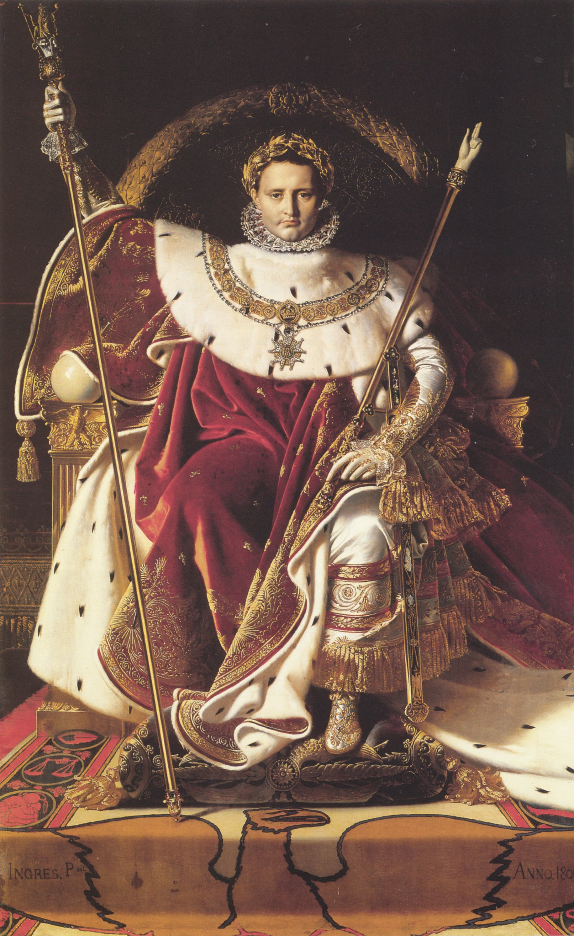 Napoleon I on His Imperial Throne | Jean Auguste Dominique Ingres | Oil Painting