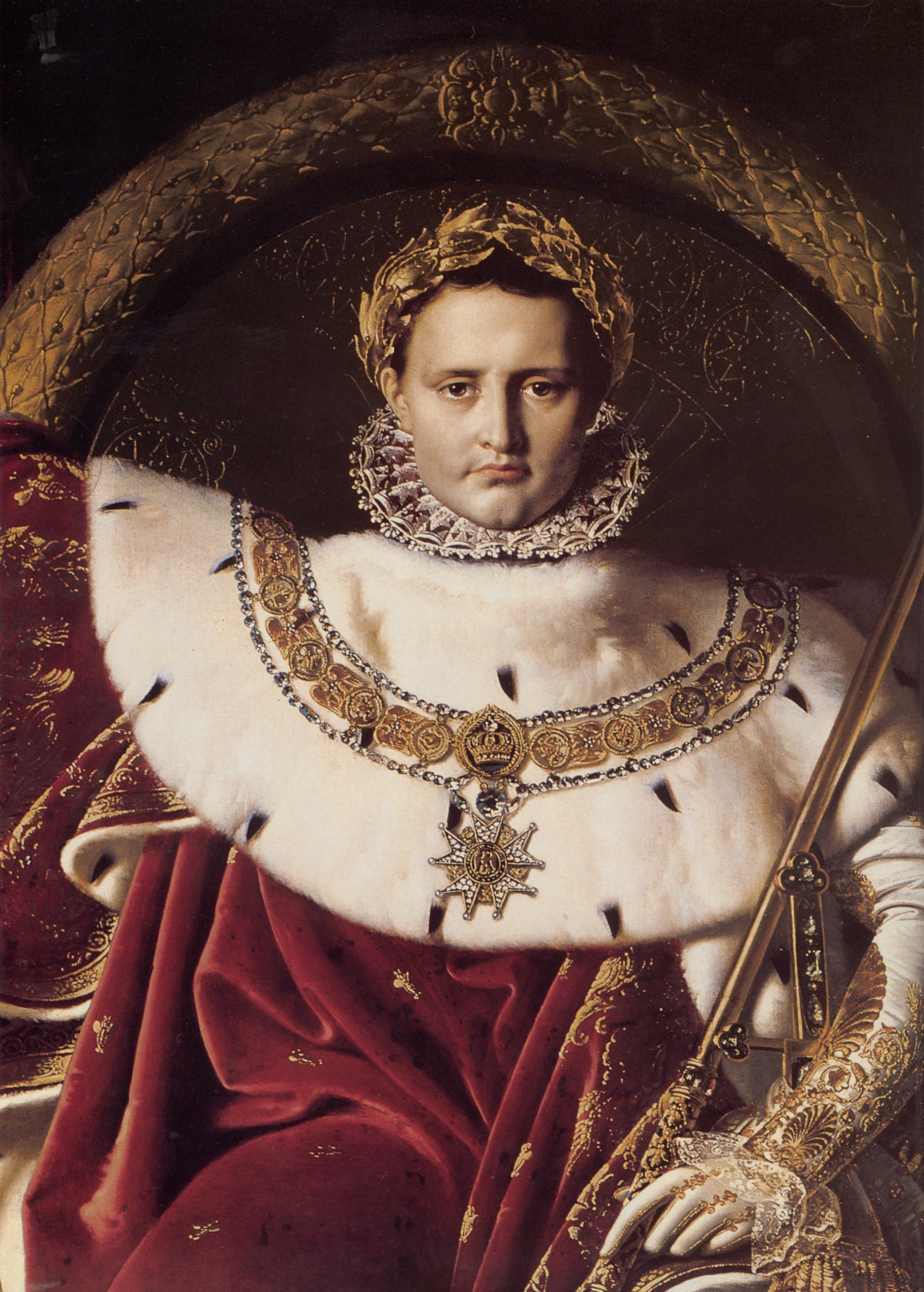 Napoleon I on His Imperial Throne detail | Jean Auguste Dominique Ingres | Oil Painting