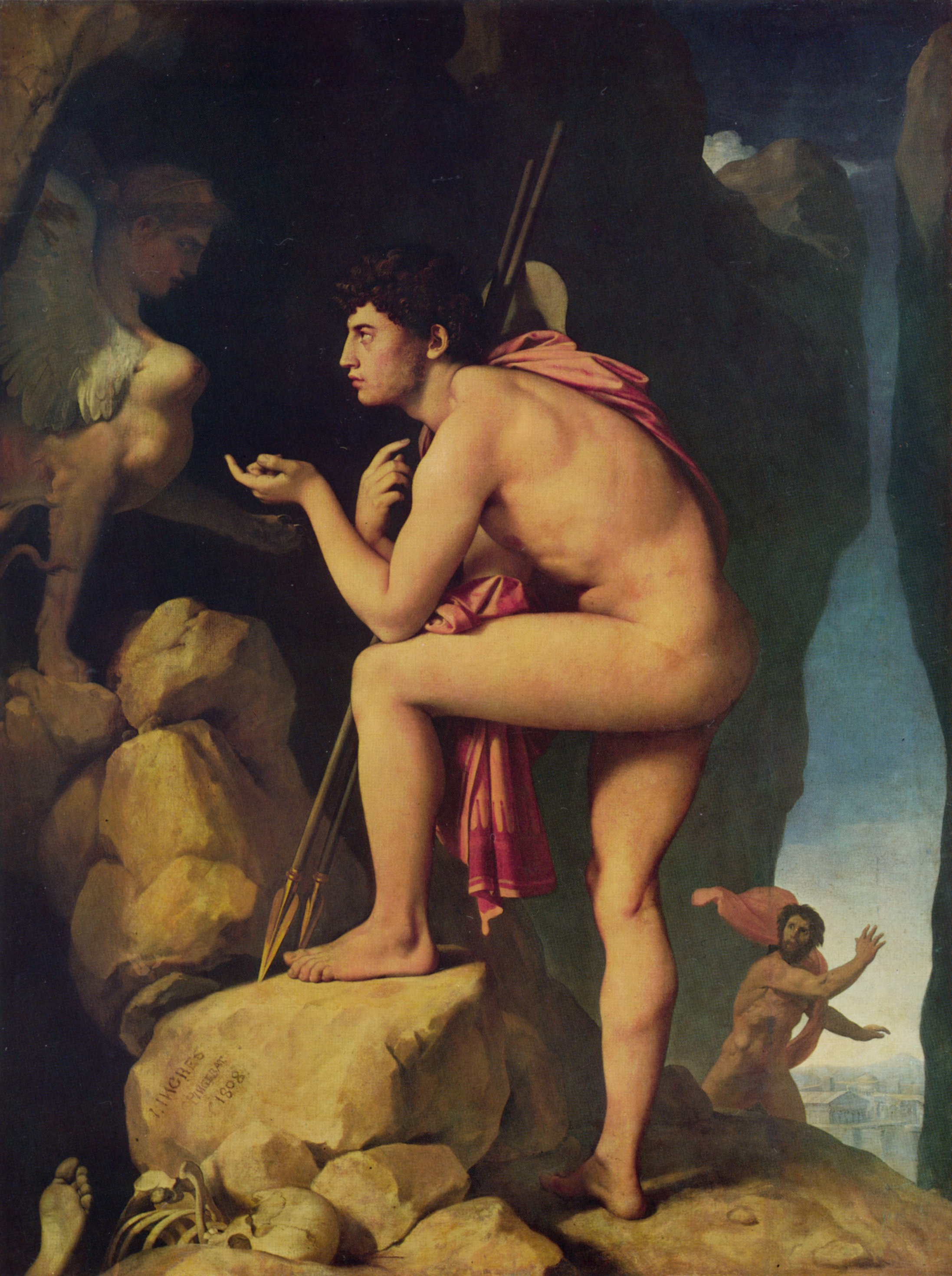 Oedipus and the Sphinx | Jean Auguste Dominique Ingres | Oil Painting
