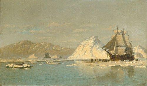 Off Greenland Whaler Seeking Open Water   William Bradford   Oil Painting