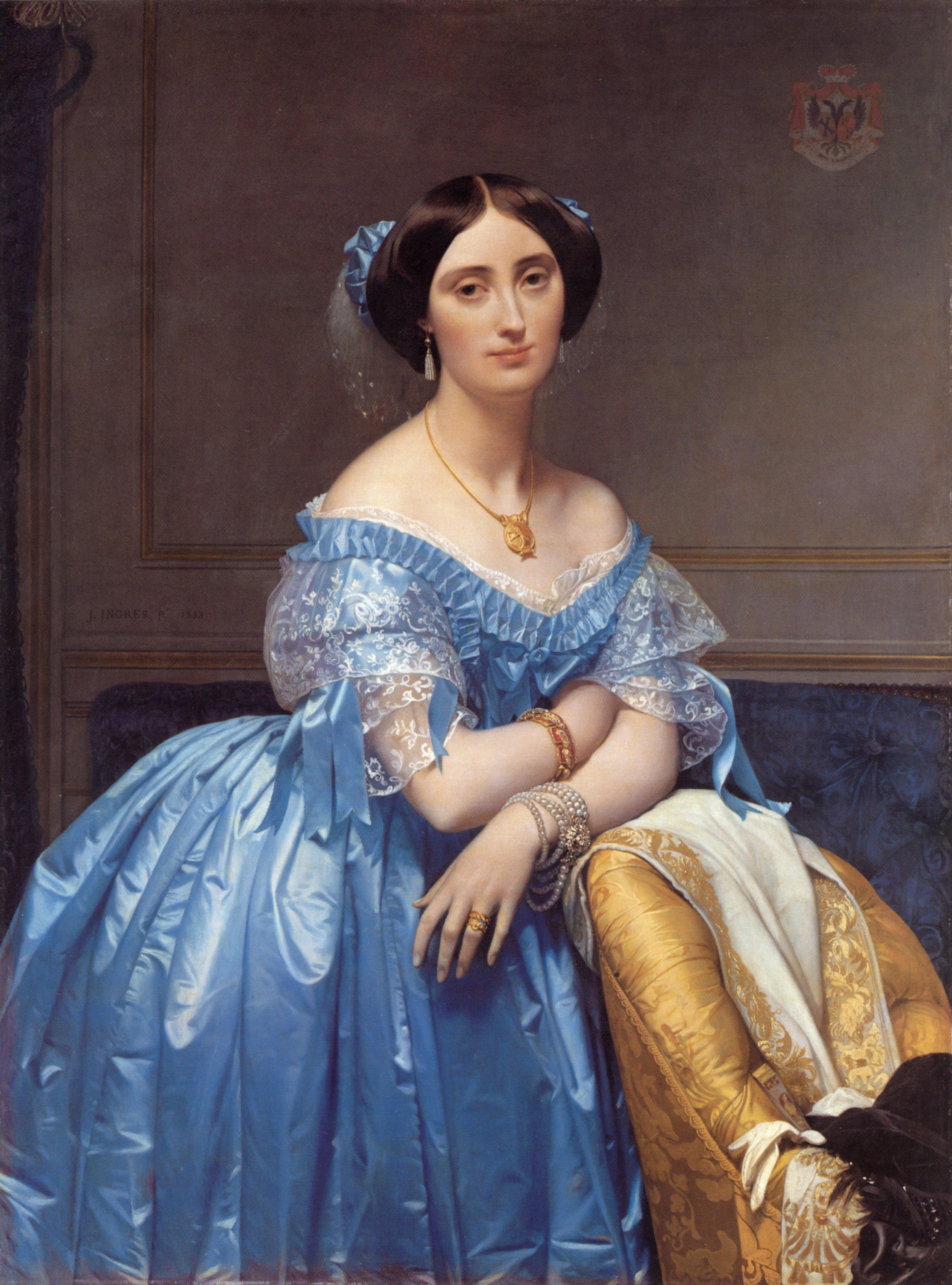 Princess Albert de Broglie   Jean Auguste Dominique Ingres   Oil Painting