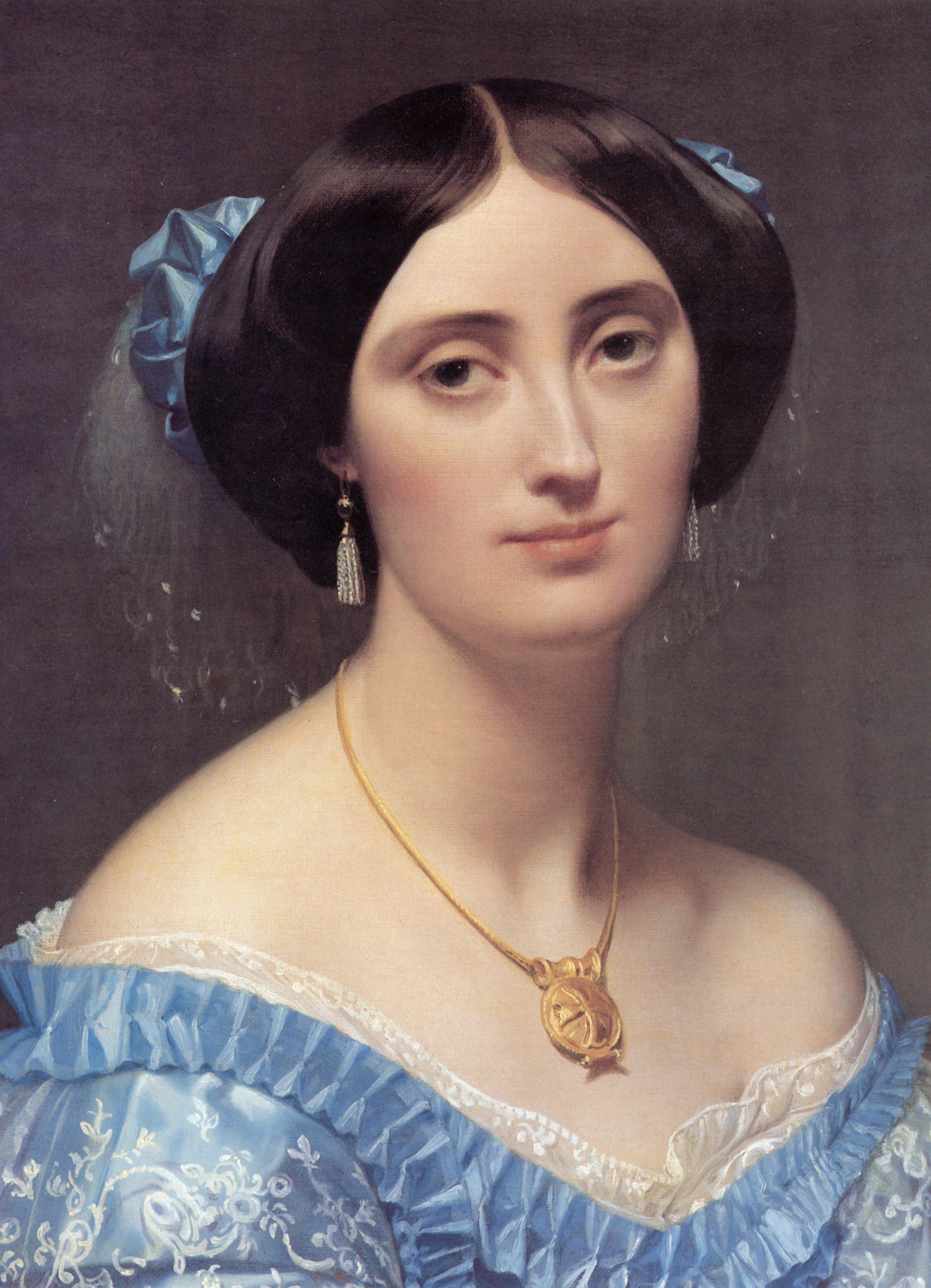 Princess Albert de Broglie detail   Jean Auguste Dominique Ingres   Oil Painting