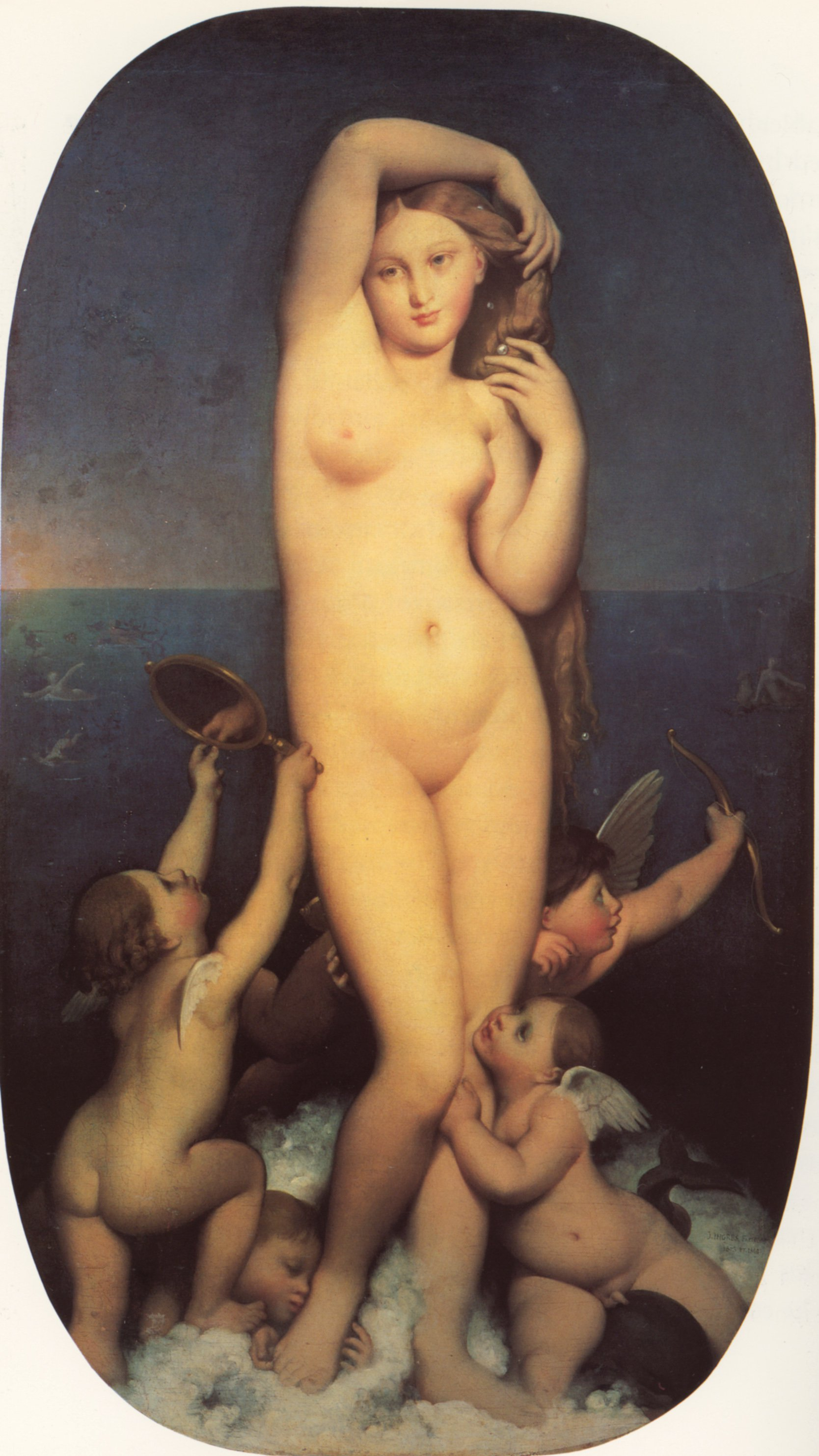 Venus Anadyomene | Jean Auguste Dominique Ingres | Oil Painting