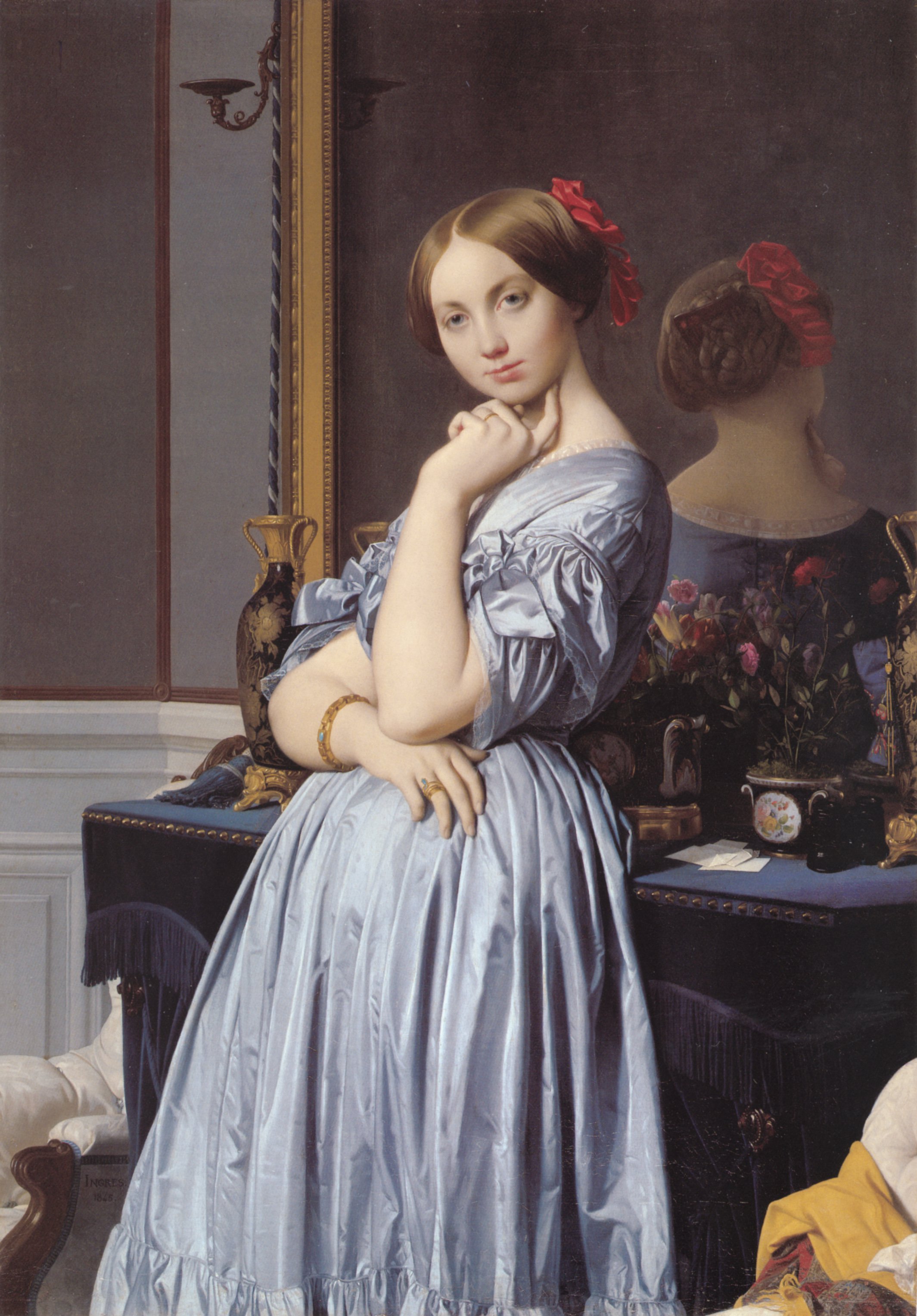 Vicomtesse Othenin d-Haussonville | Jean Auguste Dominique Ingres | Oil Painting
