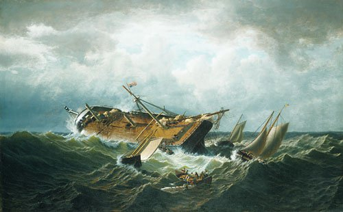 Shipwreck off Nantucket (Wreck off Nantucket after a Storm) 1860 | William Bradford | Oil Painting