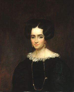 Mrs John Adams Conant 1829   William Dunlap   Oil Painting