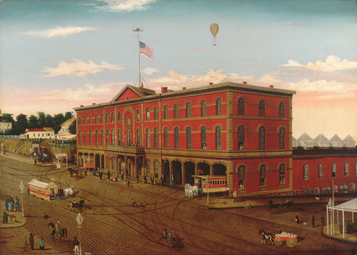 The Third Avenue Railroad Depot 1859 | William H Schenck | Oil Painting