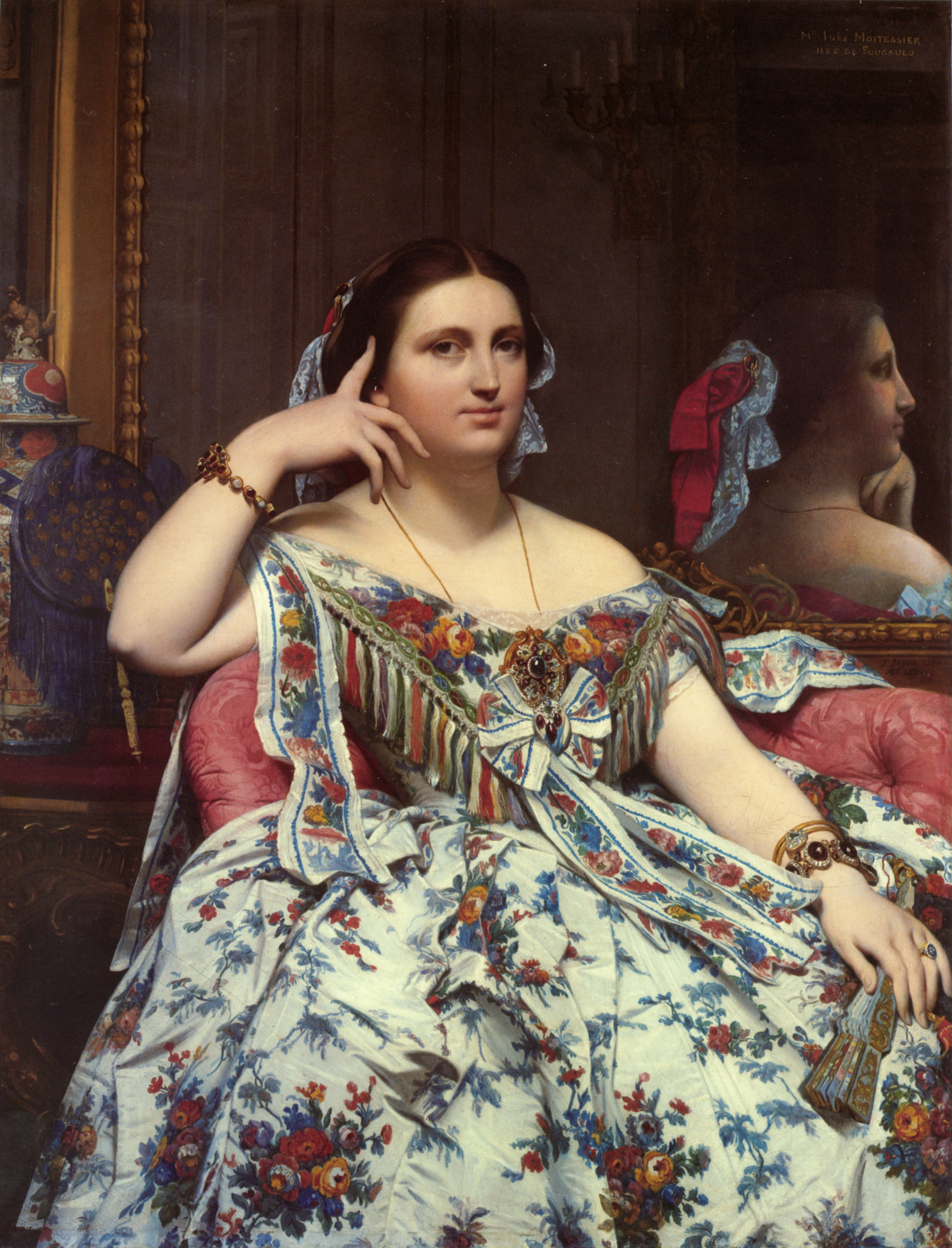 Madame Paul Sigisbert Moitessier Seated | Jean Auguste Dominique Ingres | Oil Painting