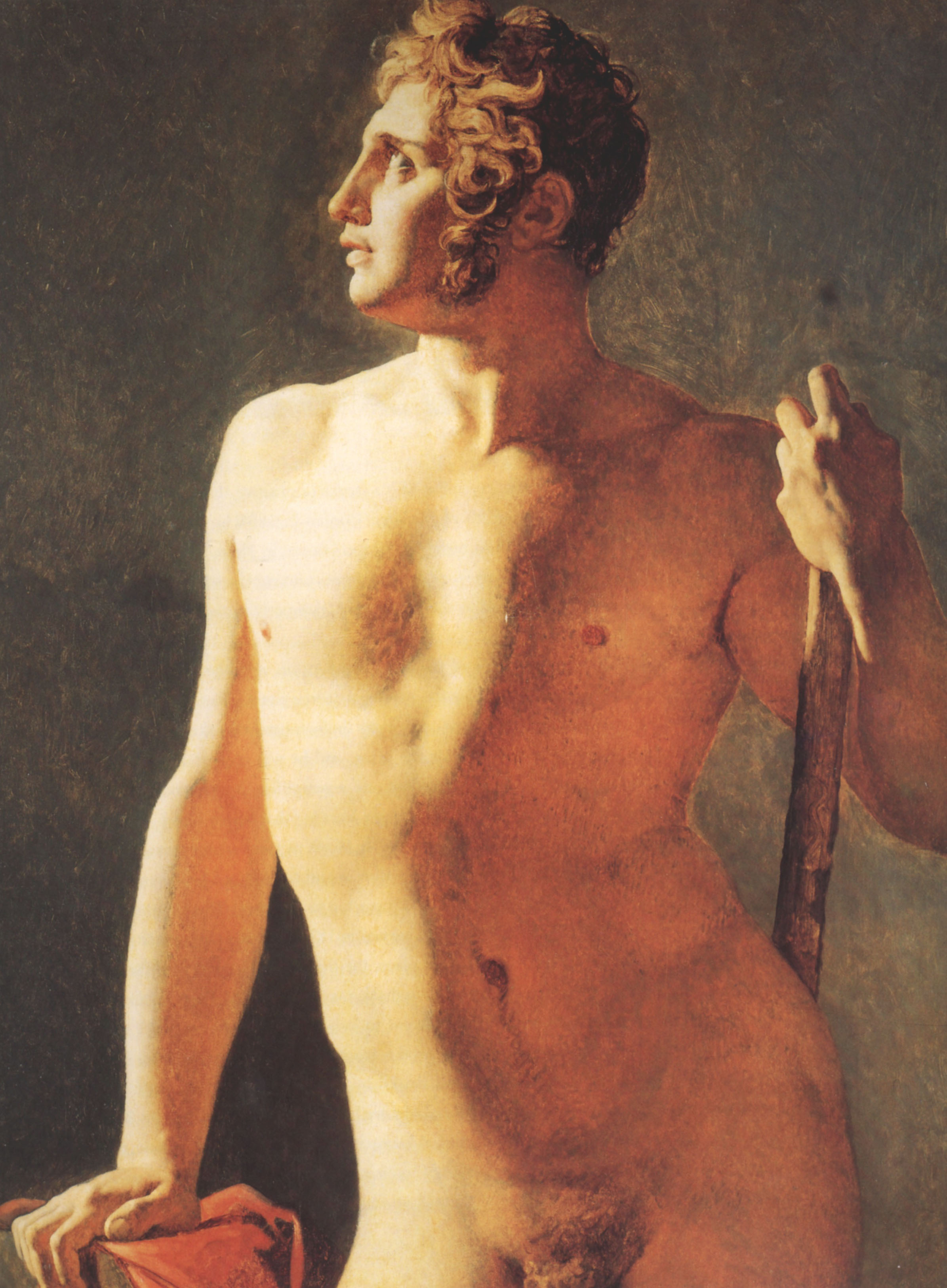Male Torso | Jean Auguste Dominique Ingres | Oil Painting
