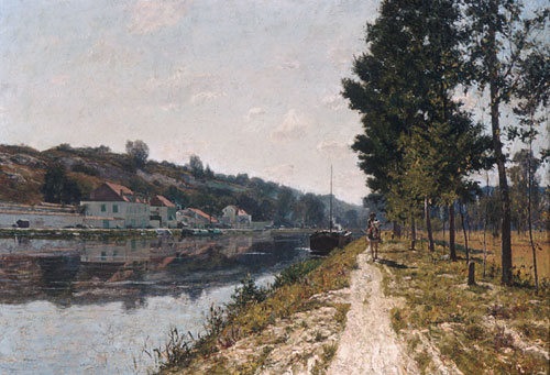 Banks of the Loing   William Lamb Picknell   Oil Painting