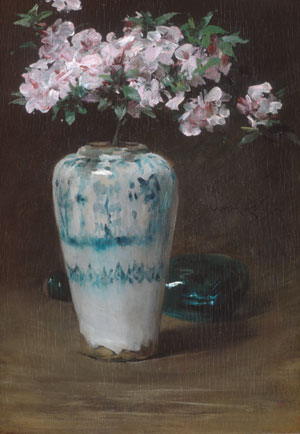 Pink Azalea Chinese Vase 1880 | William Merritt Chase | Oil Painting