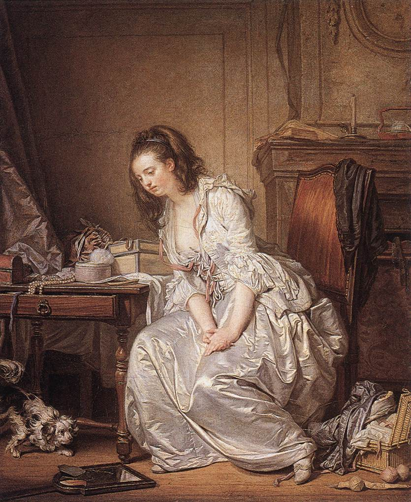 The Broken Mirror 1763 | Jean Baptiste Greuze | Oil Painting