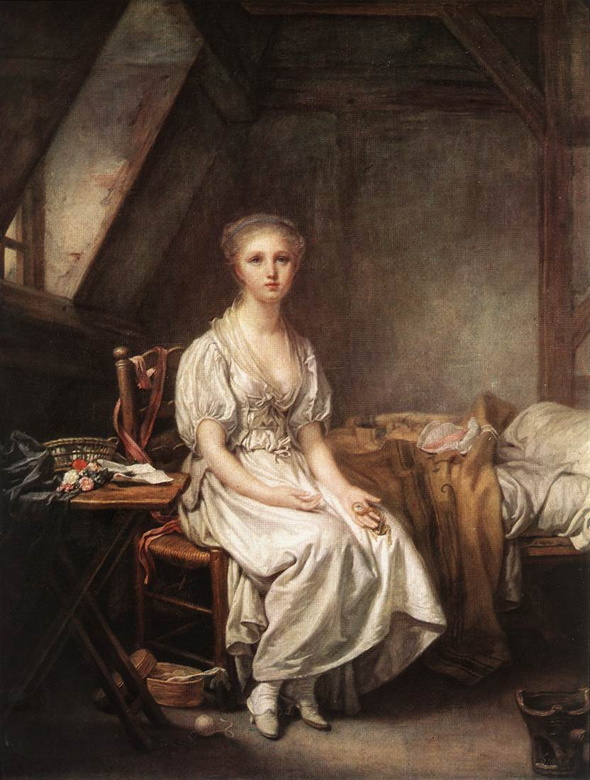 The Complain Of The Watch 1770s | Jean Baptiste Greuze | Oil Painting