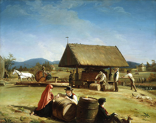 Cider Making 1840 | William Sidney Mount | Oil Painting