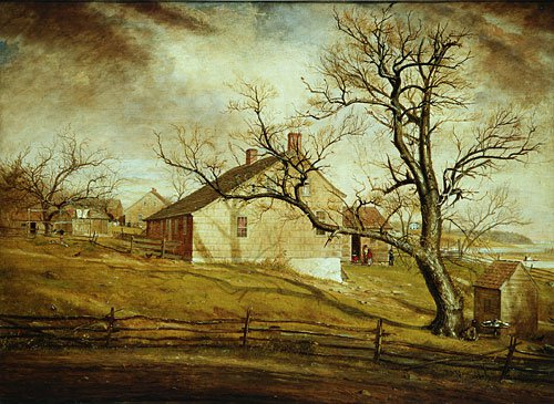 Long Island Farmhouses 1862 | William Sidney Mount | Oil Painting