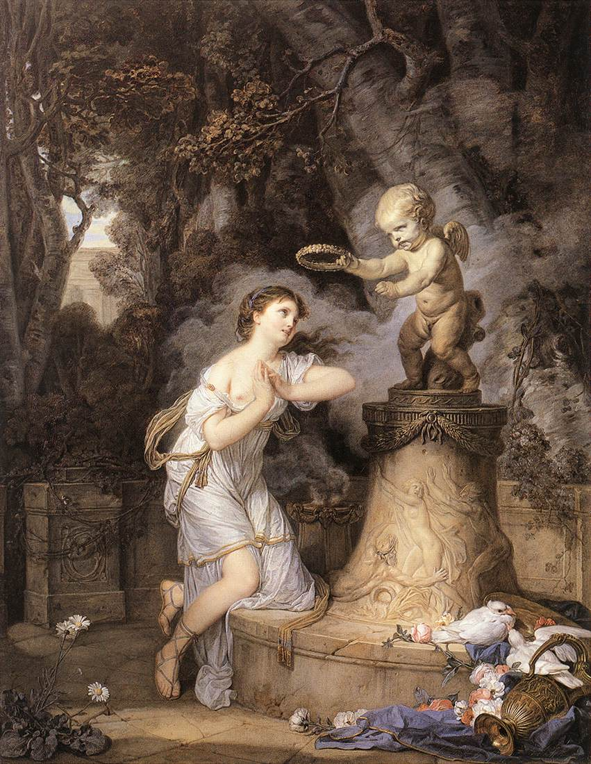 Votive Offering To Cupid 1767 | Jean Baptiste Greuze | Oil Painting
