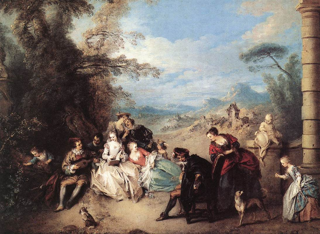 Concert Champtre | Jean Baptiste Joseph Pater | Oil Painting