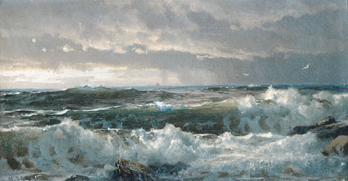 Surf on Rocks 1890s | William Trost Richards | Oil Painting