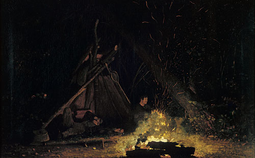 Camp Fire 1880 | Winslow Homer | Oil Painting