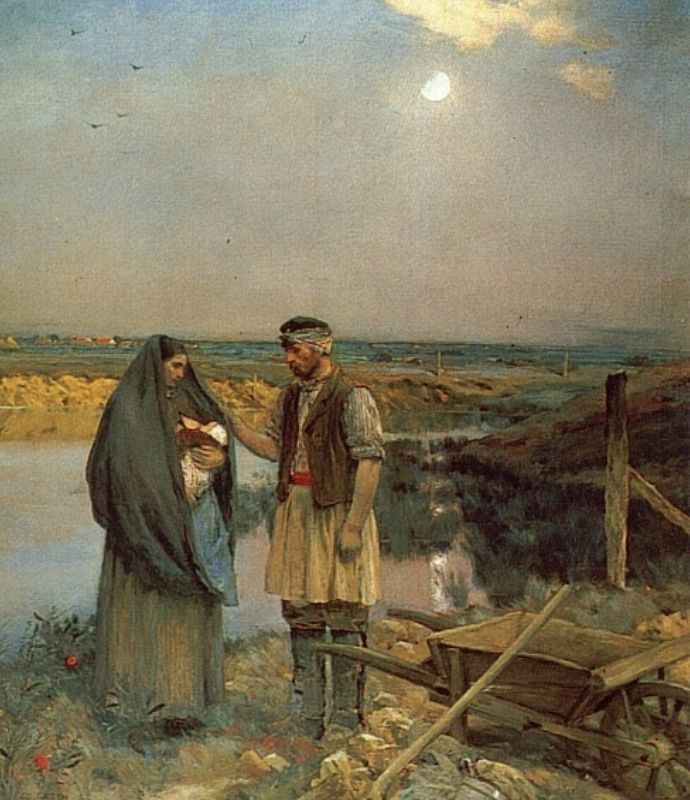 Weary Wayfarers | Jean Charles Cazin | Oil Painting