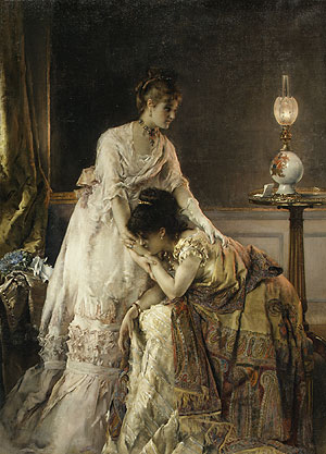 After the Ball 1874 | Alfred Stevens | Oil Painting