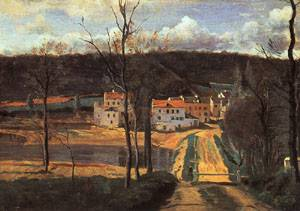 Ville Davray The Pond And The Cabassud House 1835-40 | Jean Baptiste Camille Corot | Oil Painting