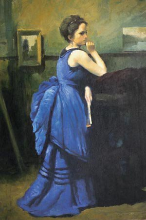 Woman in Blue | Jean Baptiste Camille Corot | Oil Painting