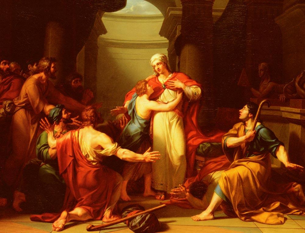 Joseph Reconnu Par Ses Freres   Jean-Charles Tardieu   Oil Painting