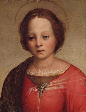 Head of the Madonna fragment | Andrea del Sarto | Oil Painting