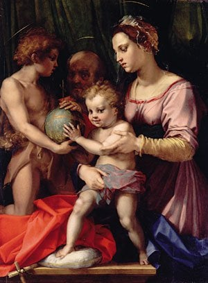 The Holy Family with the Infant Saint John the Baptist ca 1530 | Andrea del Sarto | Oil Painting