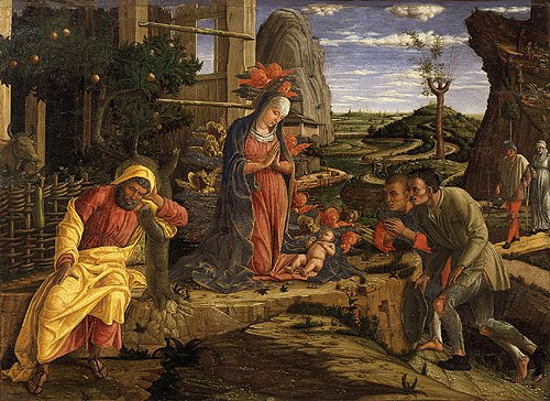 The Adoration of the Shepherds shortly after 1450 | Andrea Mantegna | Oil Painting